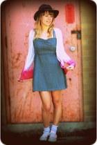 hot pink diy dip dye jeanswest cardigan - heather gray chambray rip curl dress