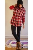f21 shirt - F21 button up shirt - Madonna for H&M pants - GoMaxx via ebay boots
