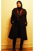 2Xpose coat - vintage blouse - Forever21 top - Justin boots - Vintage Forever 21