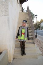 doc martens boots - Lazy Oaf hat - JCPenney sweater - vintage tights