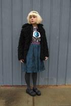 Target shoes - Target tights - Forever 21 skirt - vintage belt - Sheinside top