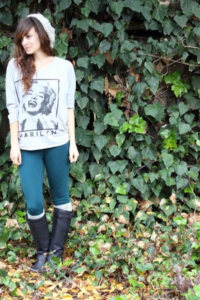 Forever 21 shirt - Forever 21 boots - Forever 21 hat - Forever 21 leggings