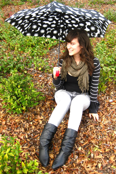 f21 shirt - vintage boots - f21 jeans - H&M scarf - Target cardigan