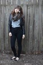 Accessorize scarf - Charlotte Russe jacket - BDG pants - Charlotte Russe flats