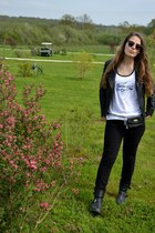 Gérard darel jacket - rayban sunglasses - Lacoste t-shirt