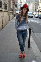 Levis jeans - St James shirt - vintage sandals