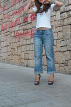 Zara jeans - asos heels
