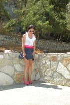pink Zara pumps - Zara skirt
