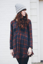 black Shellys London boots - navy free people dress
