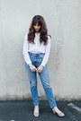 Sky-blue-grana-jeans-white-grana-shirt