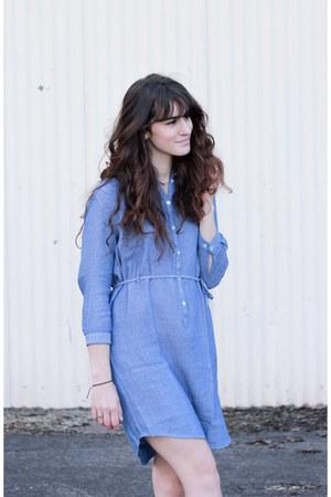 sky blue Armoire Officielle dress - white Forever 21 flats