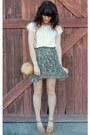 Gold-bamboo-bag-mustard-sandals-olive-green-floral-print-skirt