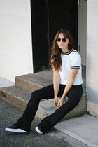 white CAMP Collection shirt - black Sol Sana shoes - black Frame jeans