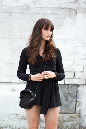 black The Fifth Label romper - black Minnie  George bag - white Mamut heels