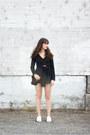 Black-minnie-george-bag-white-mamut-heels-black-the-fifth-label-romper