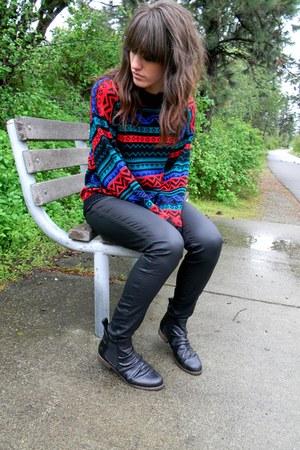 black leather Hudson pants