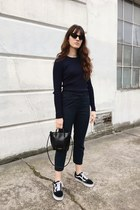 navy Frank  Oak pants - black Elizabeth and James sunglasses