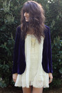 Ivory-free-people-dress-deep-purple-velvet-jacket-gold-necklace