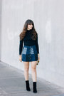 Black-vintage-boots-navy-forever-21-skirt-black-forever-21-top