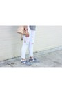 White-missguided-jeans-nude-free-people-bag-silver-new-balance-sneakers