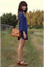 Navy-lace-dress-tawny-vintage-bag-brown-flatforms-wedges