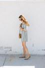 Sky-blue-zara-dress-brown-vintage-bag-camel-zara-flats