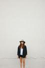 Camel-hat-navy-free-people-blazer-black-free-people-shorts