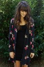 Black-bb-dakota-dress-black-floral-cape