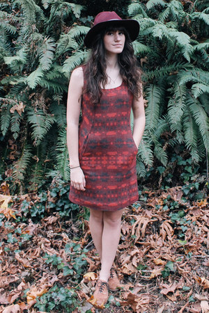 maroon Pendleton dress