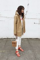 tan Stutterheim coat - red Marais heels