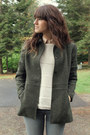 Dark-brown-vintage-shoes-beige-forever-21-sweater-army-green-thrifted-blazer
