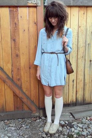 dark brown vintage bag - eggshell le bunny bleu shoes