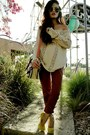 Asos-pumps-pink-jumper-shopthecaravan-sweater-american-apparel-pants