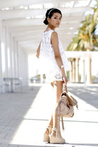 fluffy cardigan Mink Pink cardigan - python bag Steve Madden bag - AGAIN shorts