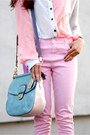 Lulus-blouse-pink-denim-topshop-jeans-modern-willis-coach-bag