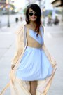 Style-stalker-dress-chiffon-coat-max-co-coat-super-sunglasses