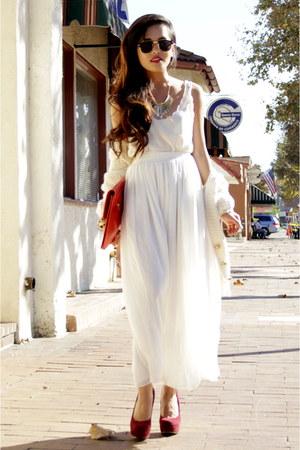 chiffon skirt American Apparel skirt - camille zarsky bag - Topshop top