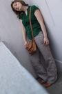 Beige-zara-pants-green-h-m-shirt-sonate-shoes-purse-green-moa-earrings