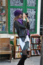 hat - Joie jacket - scarf - free people skirt - vest