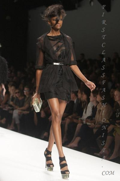 black Fendi dress