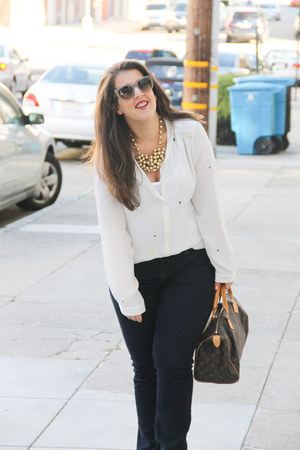 Paige jeans - Louis Vuitton bag - Prada sunglasses
