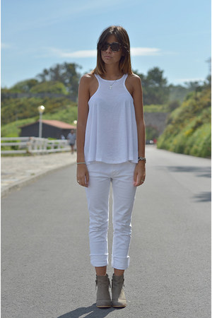 Topshop boots - Zara jeans - asos top