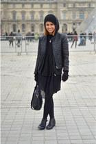 Zara dress - Vans hat - Zara jacket