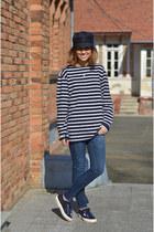 thrifted vintage hat - batela t-shirt