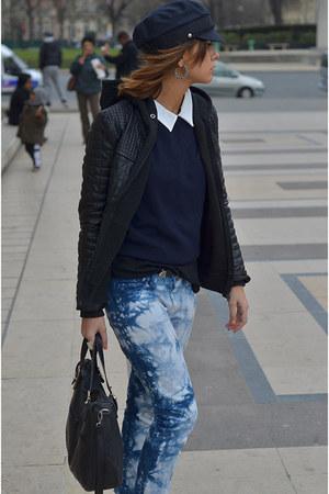 Zara pants - thrifted vintage hat - vintage jumper