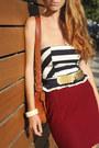 Seashell-vintage-belt-vintage-coach-purse-nautical-forever-21-top