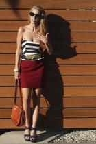 seashell vintage belt - vintage Coach purse - nautical Forever 21 top