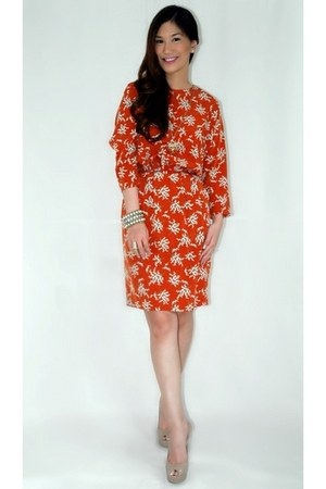 orange Sister Jane dress - nude Chinese Laundry heels