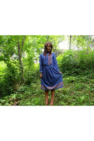 silk thrifted vintage dress