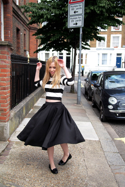 asos skirt - River Island top - asos loafers